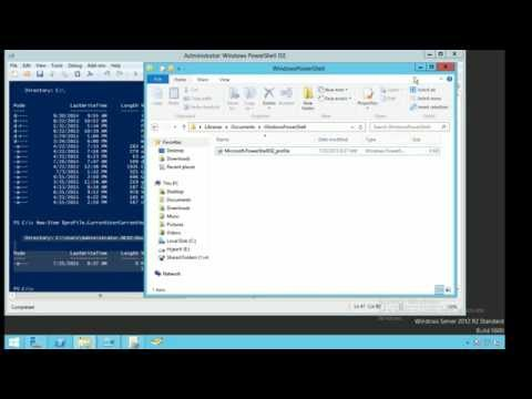 Windows Powershell: Creating and Modifying Profiles