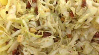 Салат- ягоды годжи, капуста, мендальный орех, Дюкана. Goji salad with cabbage, almonds Dukan Cruise