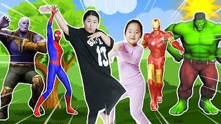 슈퍼히어로랑 함께 춤춰요! 스파이더맨 아이언맨 헐크 타노스 댄스놀이 Dancing Superheros Surprise 리틀조이 littlejoy