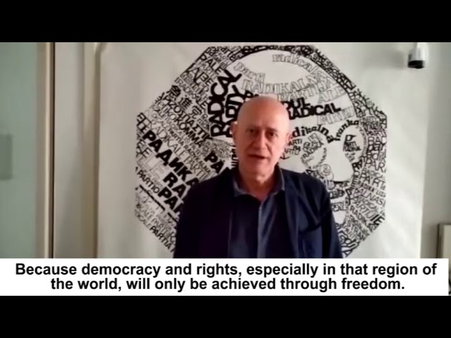 Message of Sergio D'Elia, to 'Free Iran' gathering