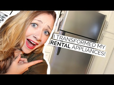 DIY FAUX STAINLESS STEEL | RENTAL HACK!