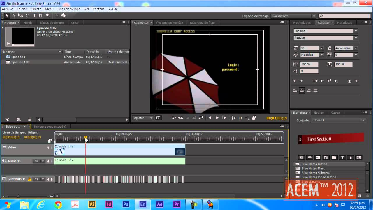 adobe encore cs6 cannot run in non-royalty serialized mode