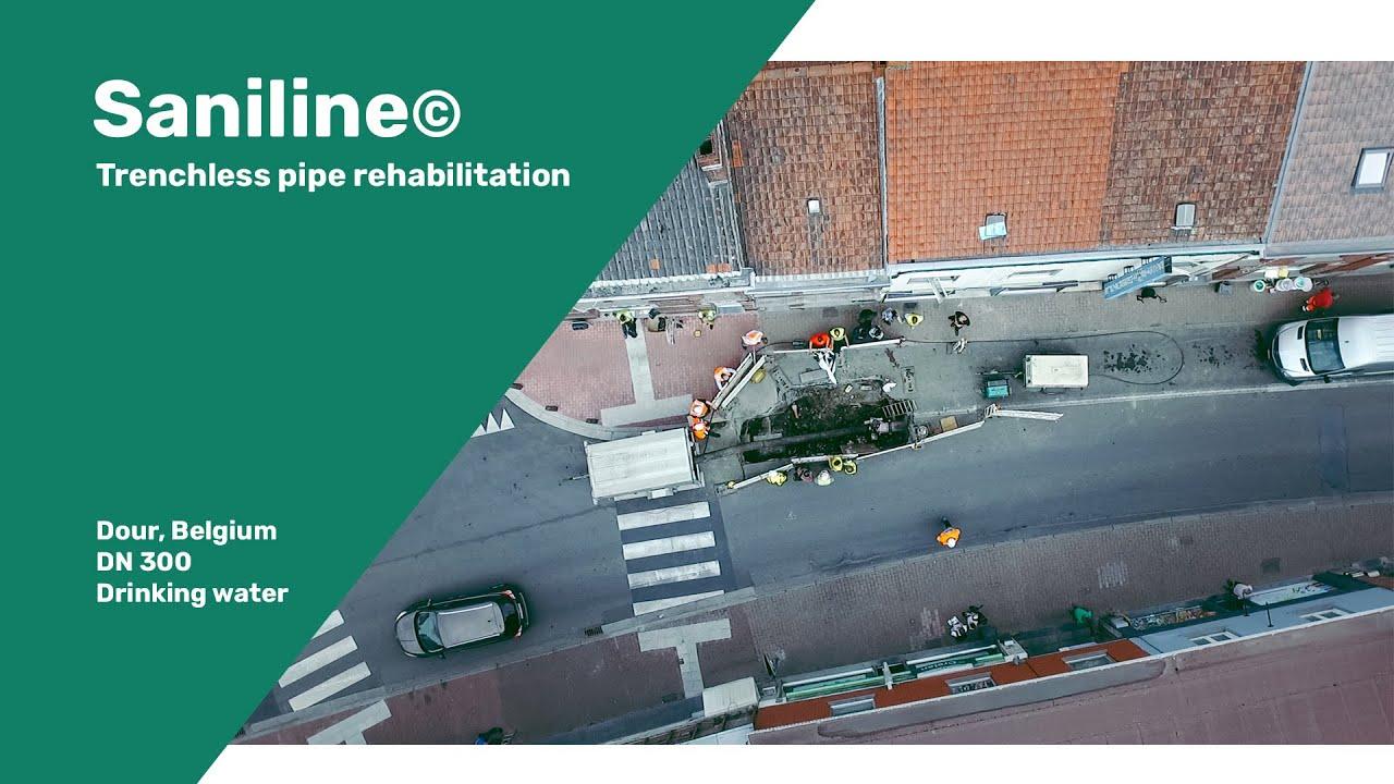 SaniLine© rehabilitates drinking water pipeline running through city