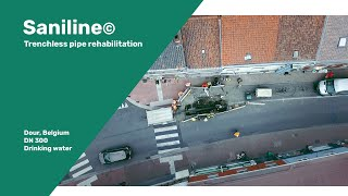 SaniLine© rehabilitates drinking water pipeline running through city