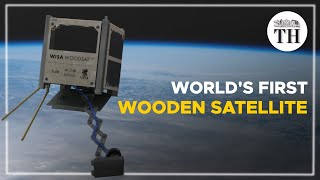 The world's first wooden satellite