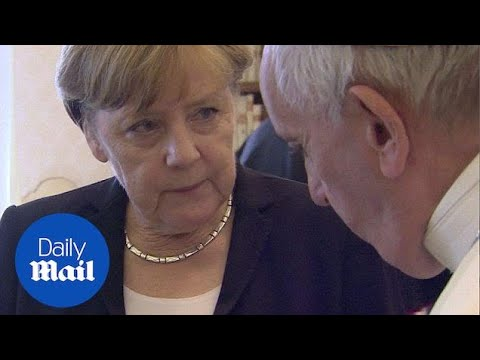 Angela Merkel meets with Pope Francis at Vatican - Daily Mail