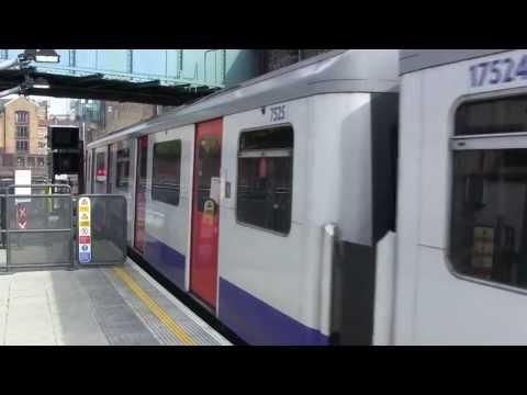 London Underground (LU) - District Line D78 stock trains at Whitechapel