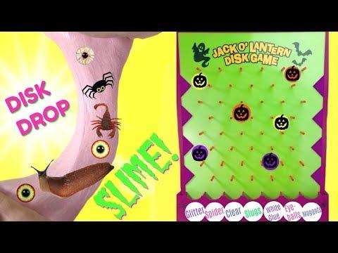 DIY Spooky Halloween Disk Drop Slime - What Kind of Slime Will We Make?