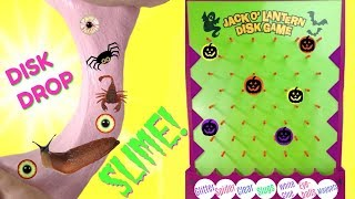 DIY Spooky Halloween Disk Drop Slime - What Kind of Slime Will We Make?