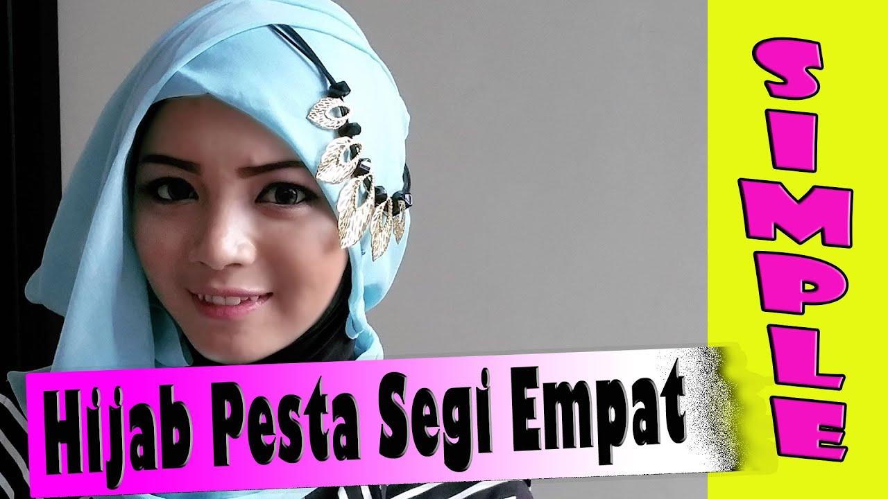 Hijab Pesta Pernikahan Segi Empat Simple Modern By Revi 211 YouTube