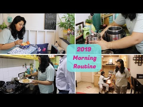 2019 Busy Indian Daily Morning Routine | Breakfast, Kid's School Tiffin, Husband's Office Lunch Box