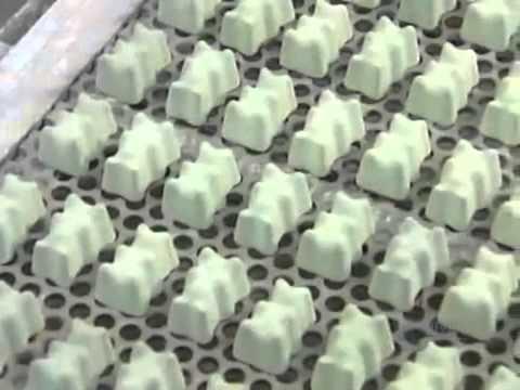 Quy trình sản xuất kẹo dẻo đầy màu sắc ( colorful marshmallows Manufacturing Process)