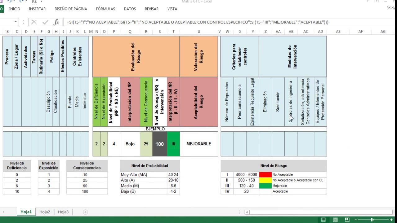 Aplicar formatos condicionales Matriz GTC 45 Excel - YouTube