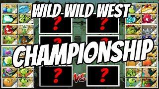 Wild West Team Plants Tournament Championship | Plants vs Zombies 2 Epic MOD