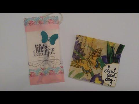 #diyenvelopes #artndacitycreations DIY Mini Envelopes w/ Patty Paper (Available in My Etsy Shop)