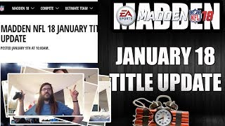 MADDEN 18 JANUARY TITLE UPDATE