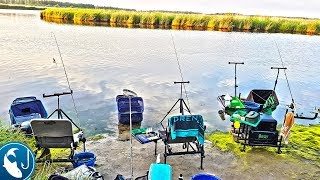 Ловля леща в июле на фидер. Фидер с рыболовами-спортсменами на канале. Жор леща летом.