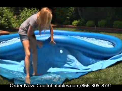 Intex Easy Set Pool Setup Instructions Youtube
