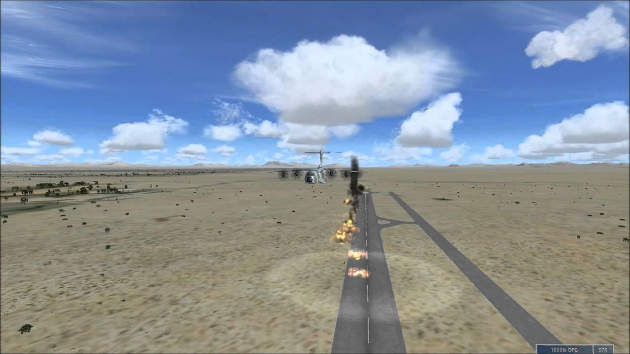 FSX -A400 BOMB RUN -- AFGHANISTAN KANDAHAR