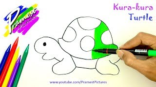 Kura-kura   Belajar Menggambar Dan Mewarnai Gambar Hewan Untuk Anak-anak