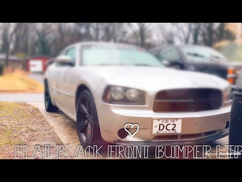 Spray painting the front bumper lip on a car, to a Satin black.