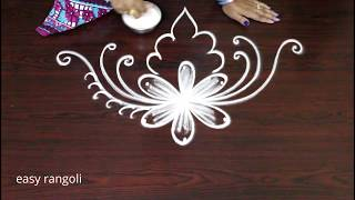 creative rangoli art designs without dots - New freehand kolam designs - latest muggulu designs