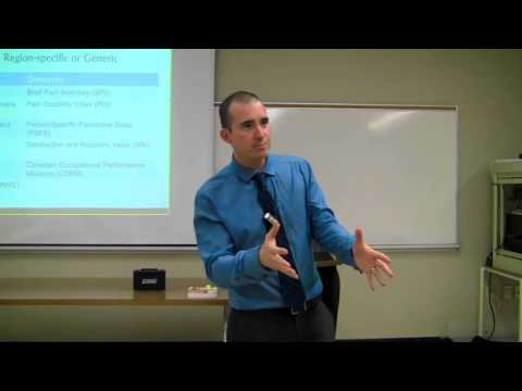 Comprehensive Pain Assessment for Clinicians Part 6-1: Disability and Functional Scales