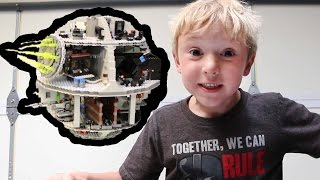 Lego Death Star 75159 - Build by a 7 Year Old - Time Lapse - Star Wars Rogue One