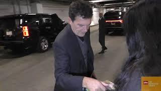 Antonio Banderas signs for a fan at ArcLight Cinemas