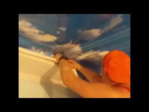 Натяжные потолки , Небо в облаках, по системе крепежа Clipso