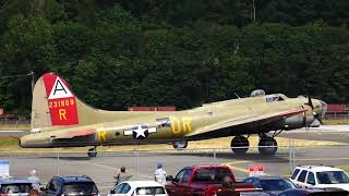 B17 Flying Fortress taking off from Seattle Museum of Flight