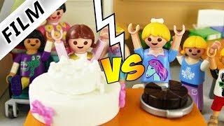 Playmobil Film deutsch   KUCHEN CHALLENGE Hannah vs Tessa   Wer hat die leckerste Torte? Kinderserie