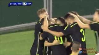 Georgia 2-5 España (Sub 21) - 2 asistencias de Gerard Deulofeu