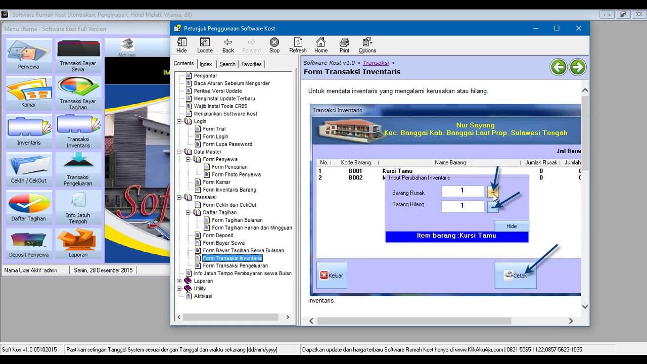 Video Software Sewa Rumah Kost