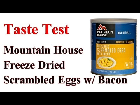 SHTF Food Taste Test Mountain House Scrambled Eggs with Bacon