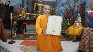 Lễ nhận bằng tiến sĩ danh dự Sư Cô Thích Nữ Ngọc Liên (Hoa Hậu Elizabeth Bích Liên) tại Sri Lanka