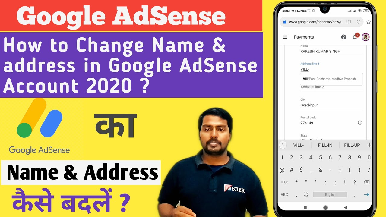 Download How to change name and address in google adsense 2020   Change Google Adsense account name & addres