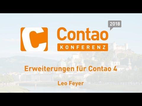 Erweiterungen Für Contao 4 – Contao Konferenz 2018