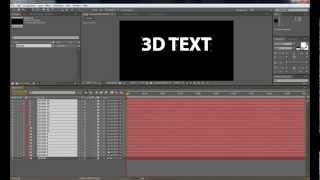 Азбука After Effects Выпуск 2. Объемный текст 3D