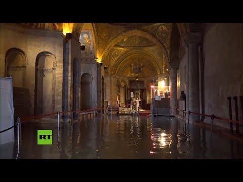 Las inundaciones de Venecia llegan a la Basílica de San Marcos