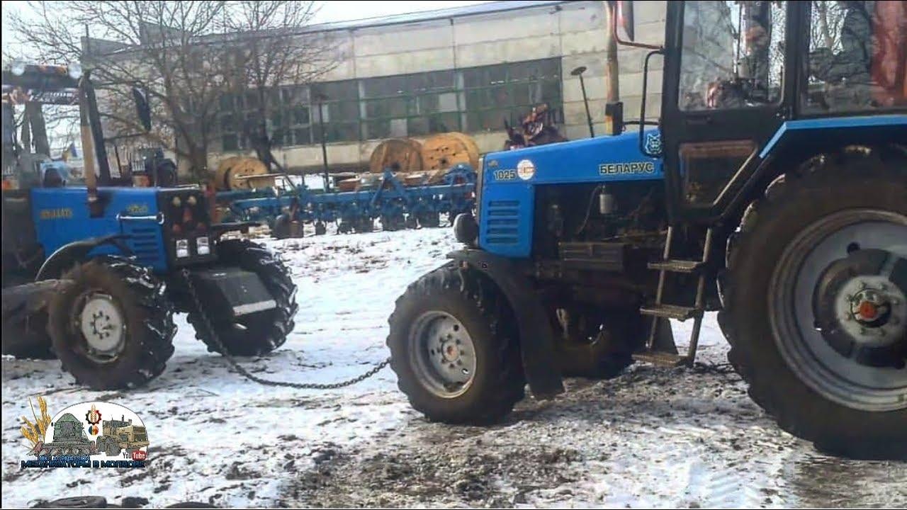 Mtz 952.2,Mtz 1025,Mtz 82 vs Dt-75|3Мтз таскают трактор Дт пробусовкой|Зима 2016|Дрифт на Мтз