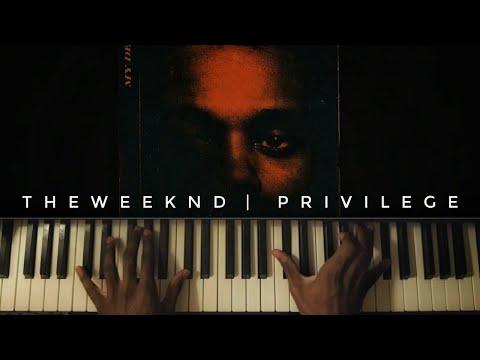 The Weeknd - Privilege  [#reggiewatkins piano cover]