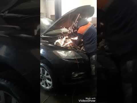 Ремонт выпускного коллектора и удаление катализаторов на Мазду CX-7