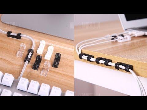 20pcs Stickability Cable Clips for Pen Computer Cellphone  -  TRANSPARENT