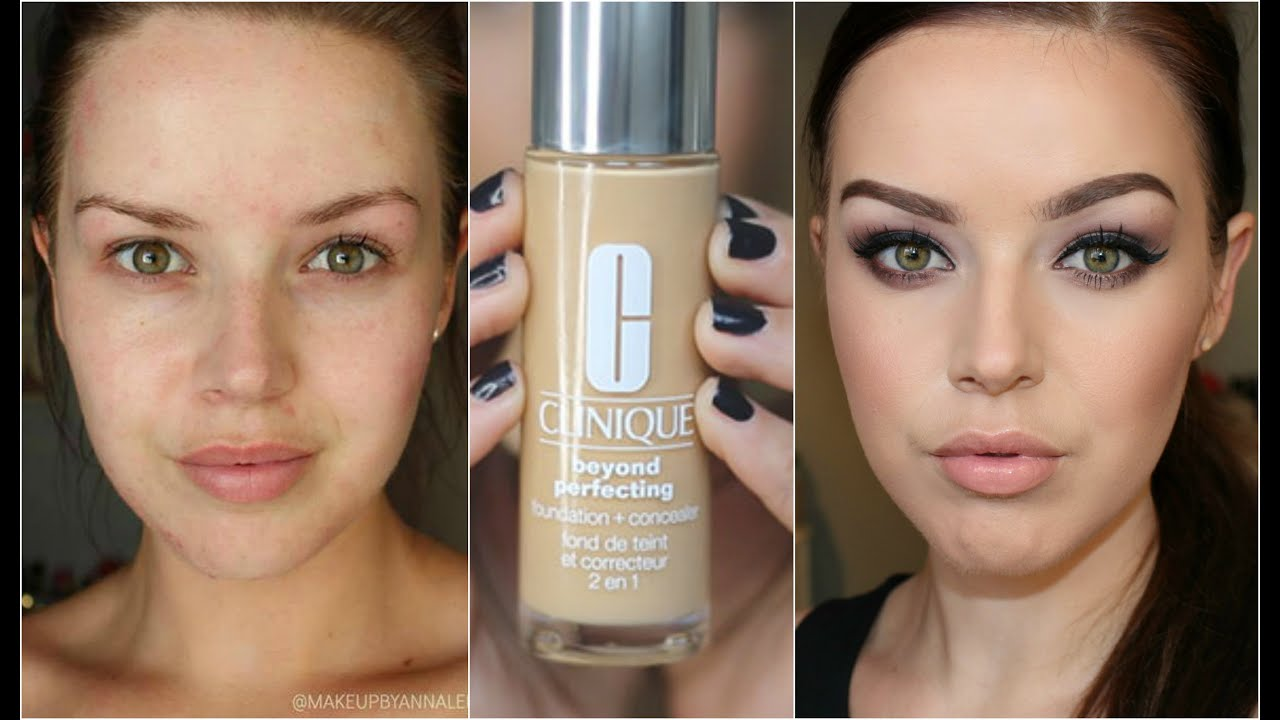 Clinique even better makeup foundation review swatches before - First Impression Review Clinique Beyond Perfecting Foundation Youtube