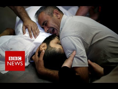 Gaza protest violence: Death toll rises to 43  - BBC News
