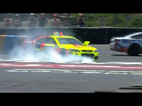 See Kyle Larson and Danica Patrick collide at Sonoma!