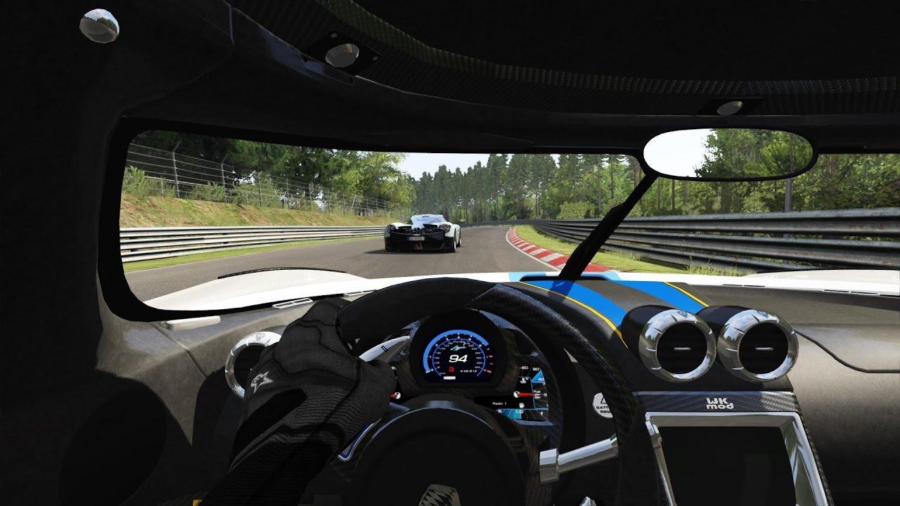 koenigsegg agera vs pagani huayra / onboard view / nürburgring