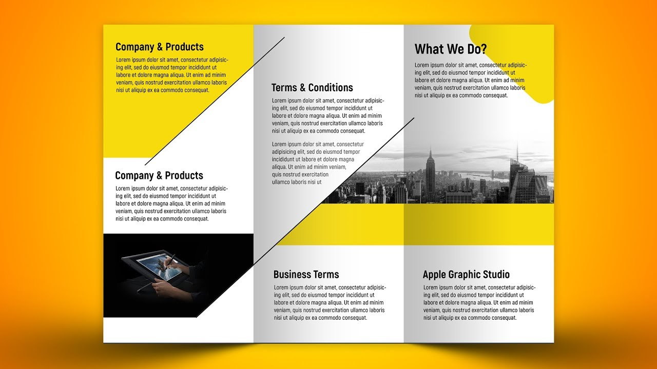 make a business tri fold brochure in photoshop cc