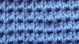 Рельефный узор Вязание спицами Видеоурок 29